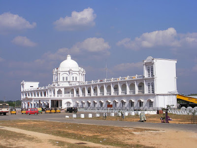 Agartala Train Station built with design clues from Ujjayanta palace, the Royal residence.