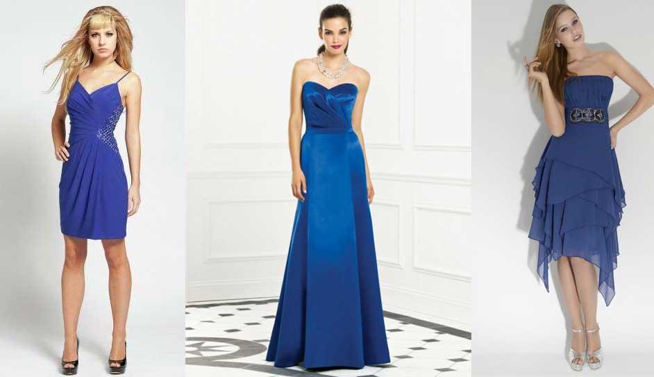 e12b1a45dc Zapatos para un vestido azul electrico - Vestido azul
