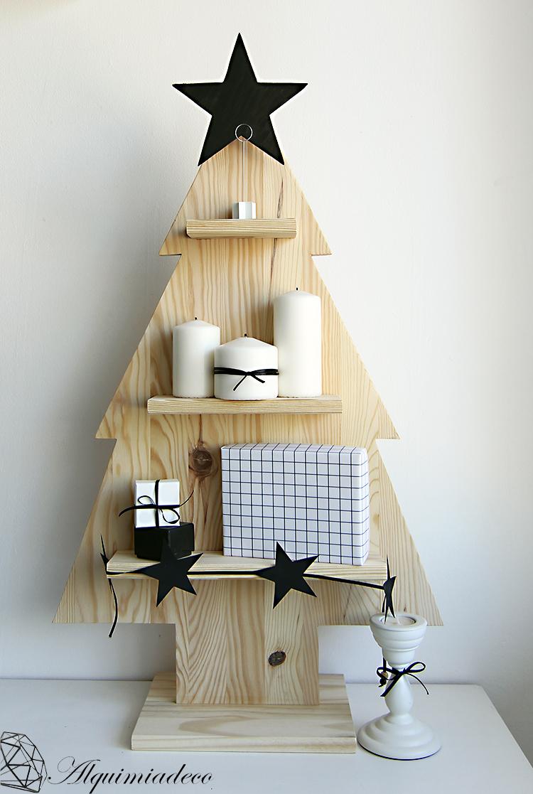 Diy arbol de navidad de madera alquimia deco for Productos para el hogar y decoracion
