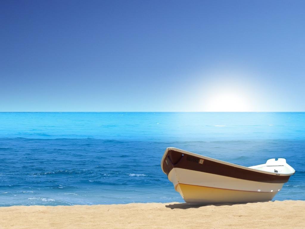 Pozadine Za Desktop Priroda Brod Na Pješčanoj Plaži
