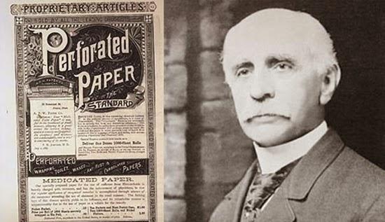 A história do banheiro - Inventor do papel higiênico