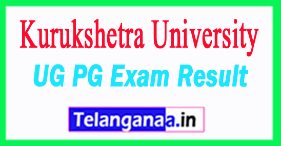Kurukshetra University Results KUK University Result 2018