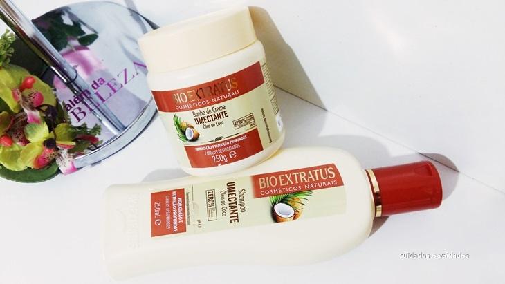 Resenha Shampoo e Máscara Umectante Óleo de Coco Bio Extratus