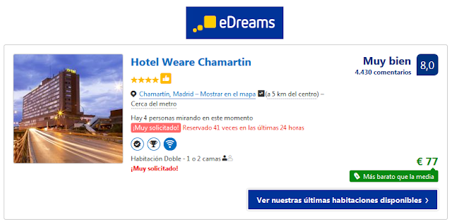Edreams ofertas hotel weare chamartin