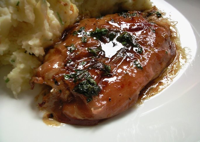 Chicken Saltimbocca with mash