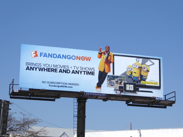 FandangoNOW movies TV anywhere anytime billboard