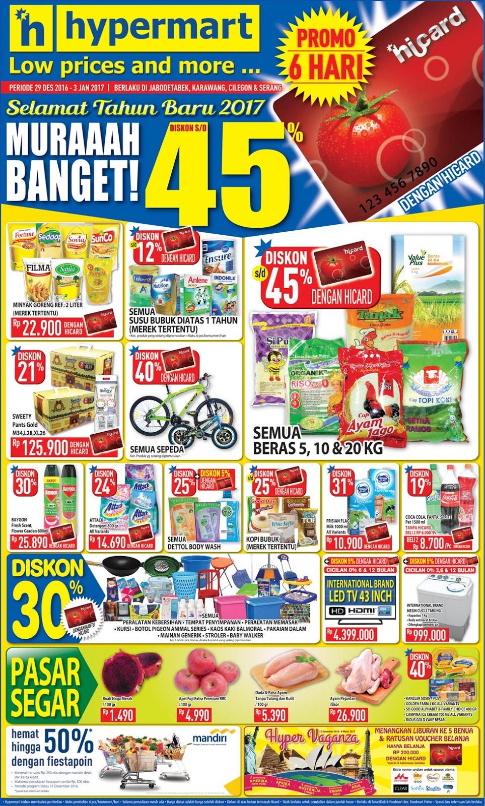 Katalog Promo Hypermart Terbaru Akhir Tahun 29 Desember 2016 3 Voucher Belanja Sekian Atas Info Yang Bisa Aku Berikanlah Mudah Mudahan Karenanya Ada Ini Menolong Kalian Ketika