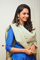 Actress Rakul Preet Singh Stills in Blue Salwar Kameez at Rarandi Veduka Chudam Press Meet  0120.JPG