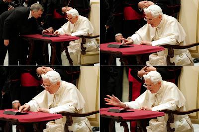 """El Papa se ha unido hoy a Twitter """"con alegría"""", antes de la hora anunciada y de la mano de una empresa española, y ha sido recibido por los internautas con expresiones de agradecimiento y bienvenida, críticas y ocurrencias más o menos afortunadas, reseña Efe. El papa ha estrenado hoy su cuenta de Twitter adelantándose aproximadamente 30 minutos a las 12:00 hora local (11:00 GMT), cuando el Vaticano había anunciado el envío de su primer mensaje. El tuit de Benedicto XVI, en el que manifiesta su alegría por estar más cerca de sus fieles y """"bendice a todo el mundo"""