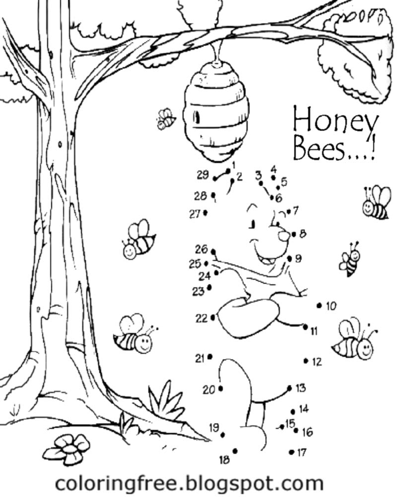 It is a graphic of Shocking Honey Bee Printables