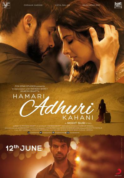 Hamari Adhuri Kahani (2015) Movie Poster No. 3