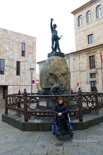 Monumento a Viriato, plaza de Viriato, Zamora