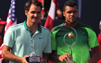 Wallpaper: Tsonga vs Federer Tennis 2014