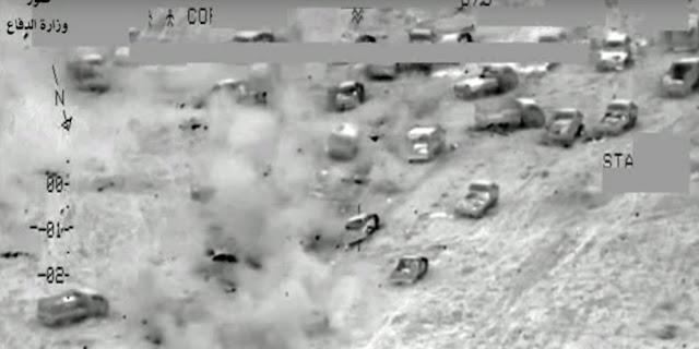 Ataques iraquianos dizimam um comboio ISIS - Michell Hilton