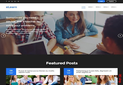 eLearn Blogger Template
