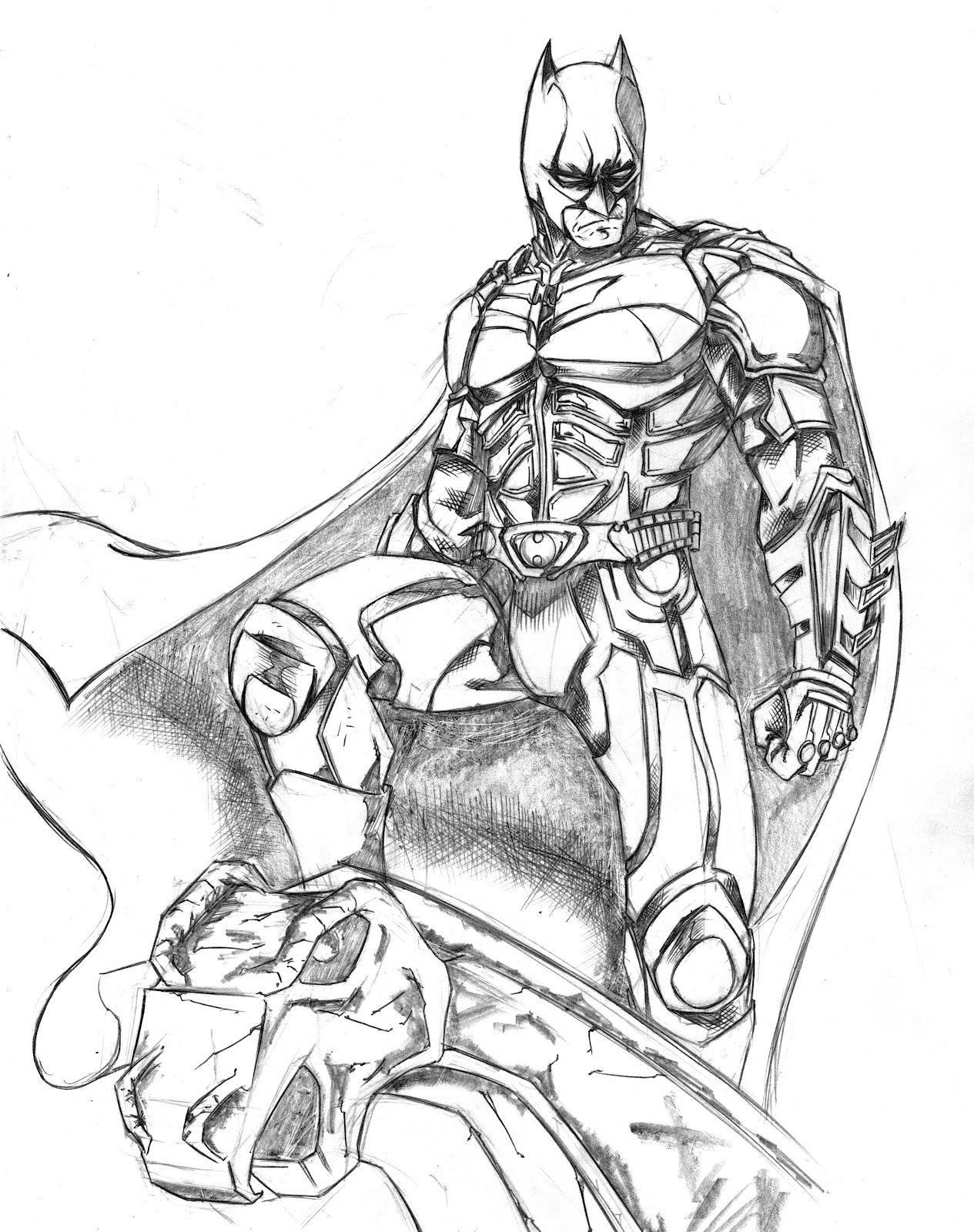 the dark night coloring pages - photo#5