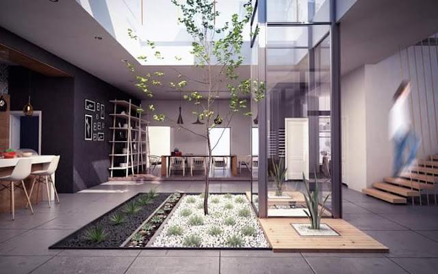 Inspirasi Teras Belakang Rumah dengan kaca