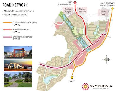 Peta jalan menuju Symphonia Summarecon Serpong