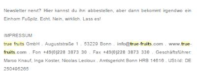 Newsletter-Abmelde-Text