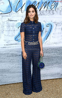 Jenna Coleman in beautiful Blue See Through Jumpsuit ~ bollycelebs.in Exclusive Celebrity Pics 004