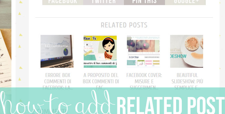 Blog design: aggiungere il 'related post'