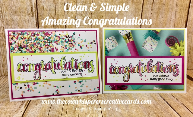 Clean & Simple, Card, Amazing Congratulations, Picture Perfect Party Designer Series Paper