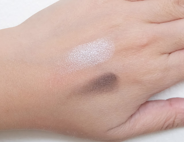 a swatch photo of How to contour the eye area using Essence Contouring Eyeshadow Set.