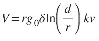 critical disruptive voltage formula