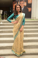 Tejaswi Madivada looks super cute in Saree at V care fund raising event COLORS ~  Exclusive 097.JPG