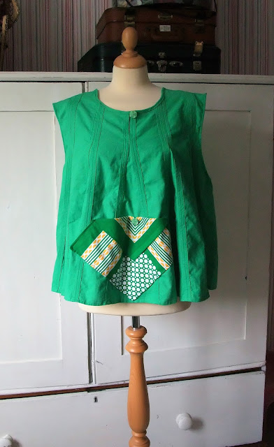vintage 50s pinafore top by karen vallerius
