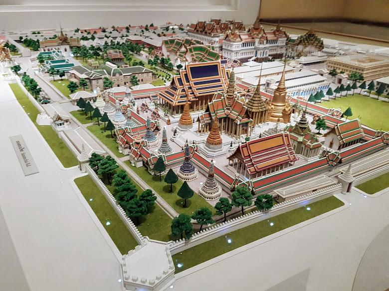 展覽館內的大皇宮模型