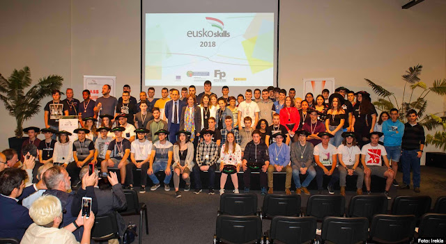 Premios campeonato EuskoSkills 2018