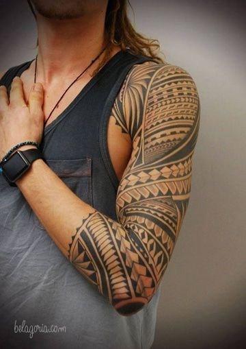 imagen de tatuaje maori