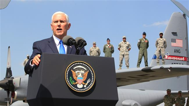 US Vice President Mike Pence: Russia's behavior 'not acceptable'