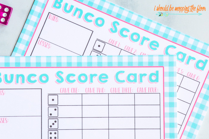 picture relating to Printable Bunco Score Cards titled Spring BUNCO Incorporate-Upon Pack of Printables