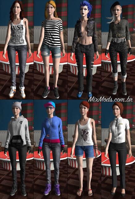 gta sa mod amazing player female remastered roupas femininas cj