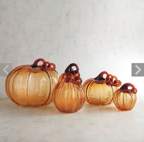 Pier 1 Imports Glass Pumpkin