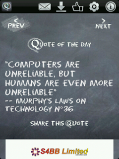 Daily Quote v3.1.3 for BlackBerry