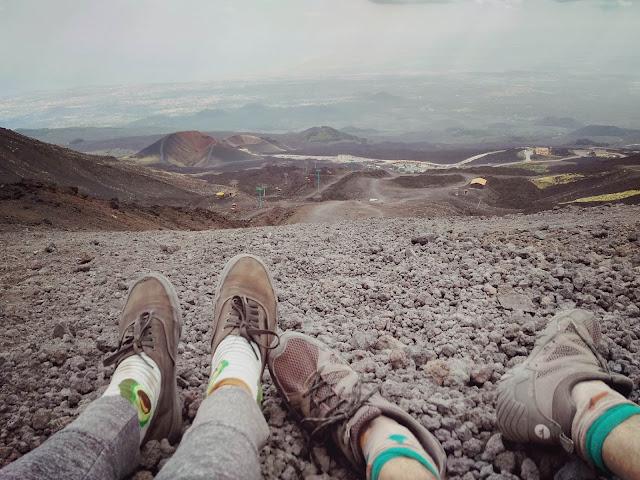 Etna, w drodze na Etnę