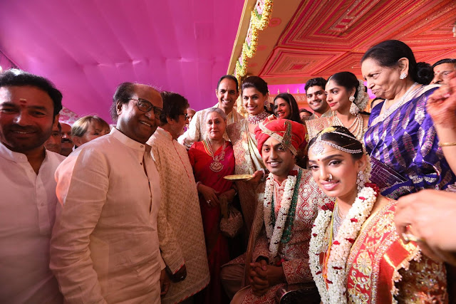 Superstar Rajnikanth at subbarami reddy grandson wedding