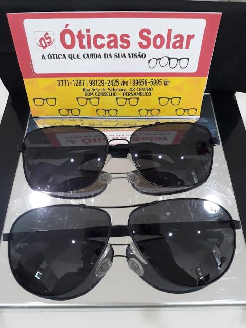 O verão está chegando, venha escolher seu óculos de sol na Ótica Solar, com  até 30% de desconto. Óculos das marcas Ana Hickmann, Vogue e Ray Ban. daedb9112a