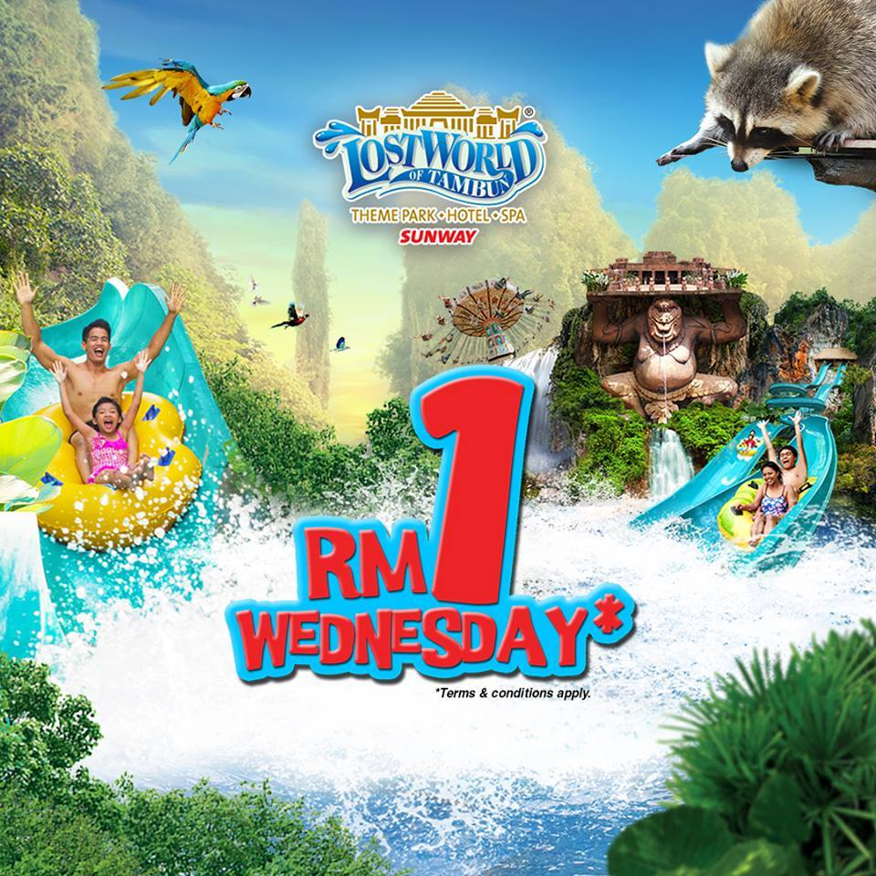 lost world of tambun 2nd entrance ticket rm1 every wednesday until
