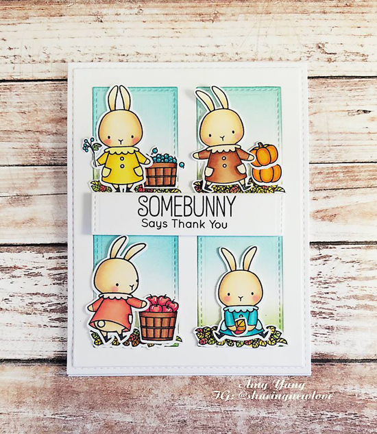 Birdie Brown Harvest Mouse and Somebunny stamp sets and Die-namics and Gift Box Cover-Up Die-namics - Amy Yang #mftstamps
