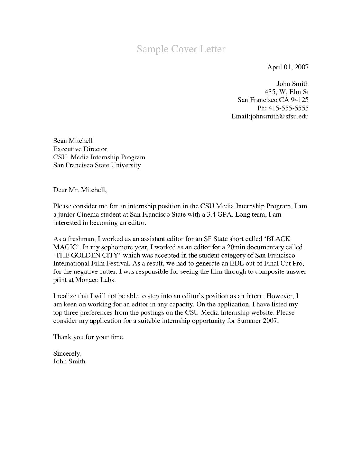 cover letter for medical assistant internship