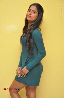 Telugu Actress Prasanthi Stills in Green Short Dress at Swachh Hyderabad Cricket Press Meet  0058.JPG