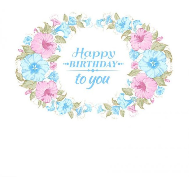 Flower card Royalty Free Vector Download