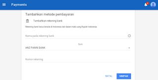 metode pembayaran adsense transfer bank