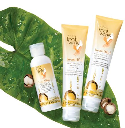 Avon Foot Works Toasted Macadamia Nut Collection