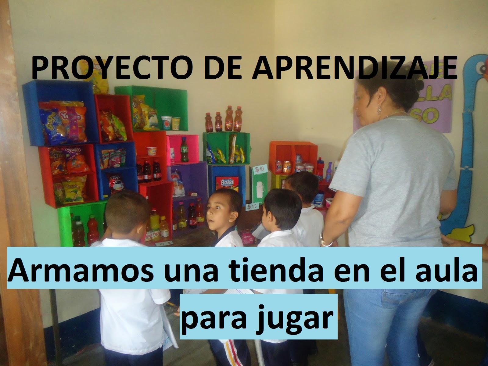 Proyecto de aprendizaje inicial armamos una tienda en el for Proyecto para una cantina escolar