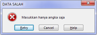 Error Alert Data Validation Excel